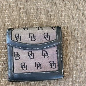 Dooney & Bourke Gray and Black Trifold Wallet